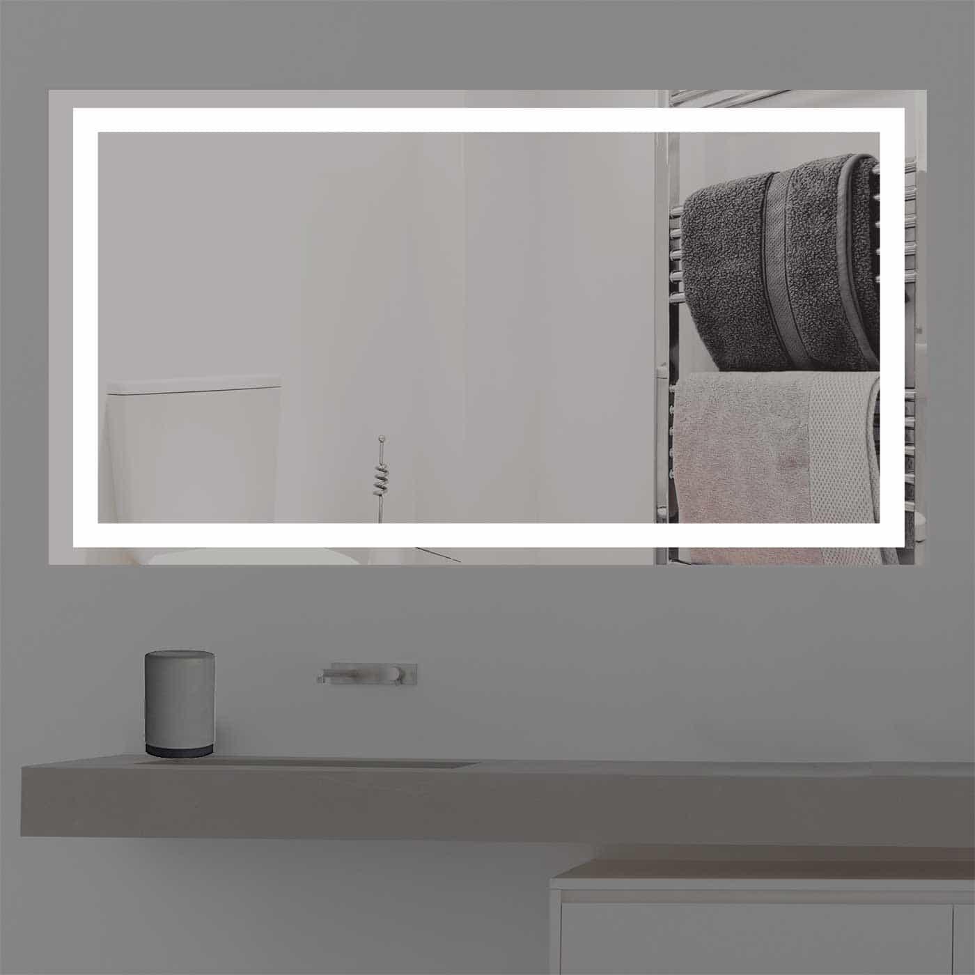Badspiegel Mit Beleuchtung badspiegel mit beleuchtung k 203