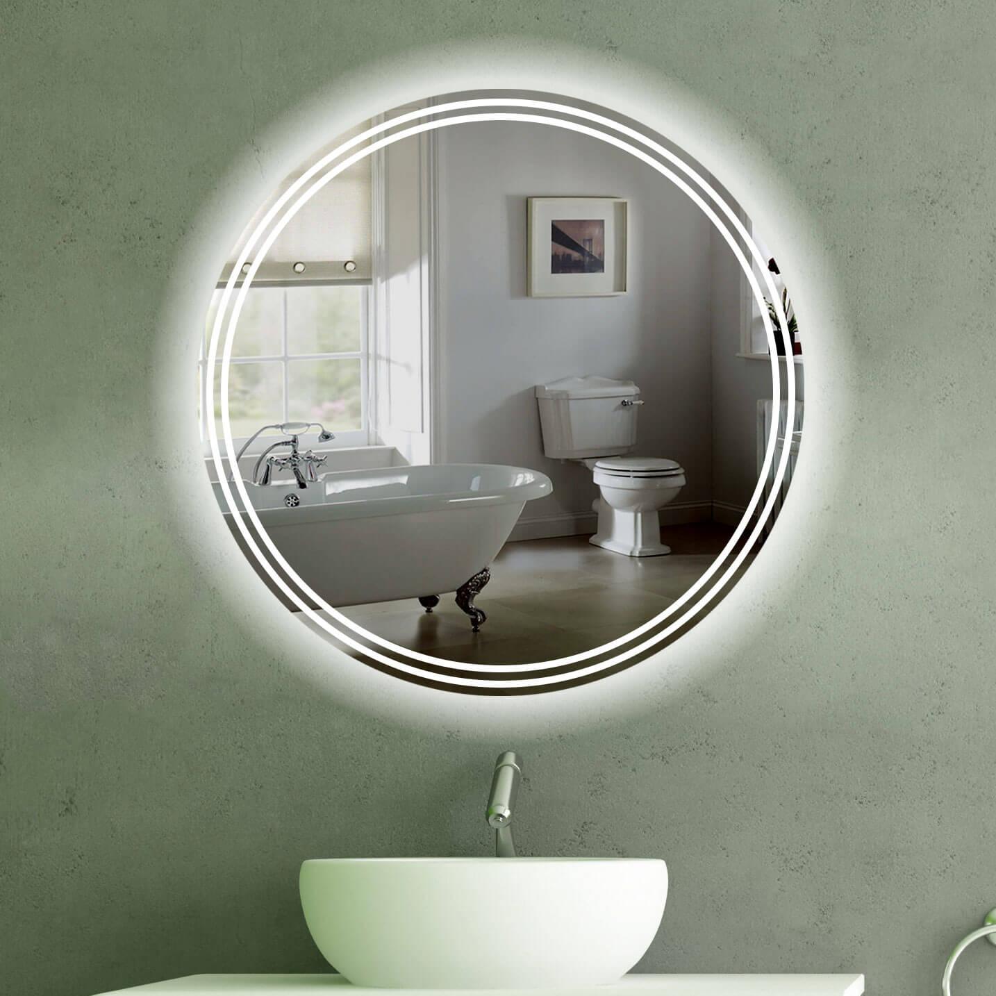 Badspiegel mit Beleuchtung | Spiegel |TÜV geprüft| kostenloser Versand | {Spiegel mit beleuchtung rund 1}