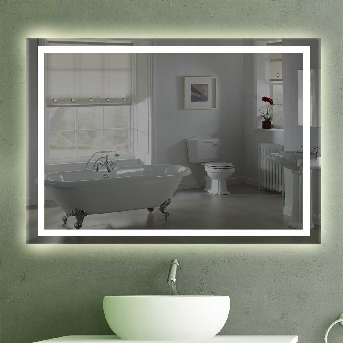 badspiegel mit beleuchtung k 203. Black Bedroom Furniture Sets. Home Design Ideas
