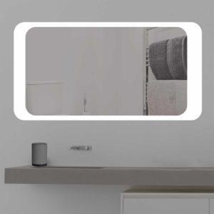 Badspiegel LED beleuchtet an der Wand | K 213 | kostenloser Versand