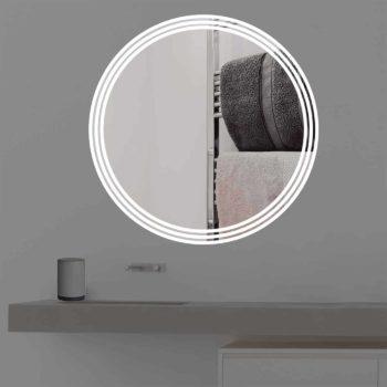 Badspiegel mit Beleuchtung auf 3 Streifen