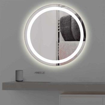 Badspiegel mit Beleuchtung | rund | R 401 in warmweiss