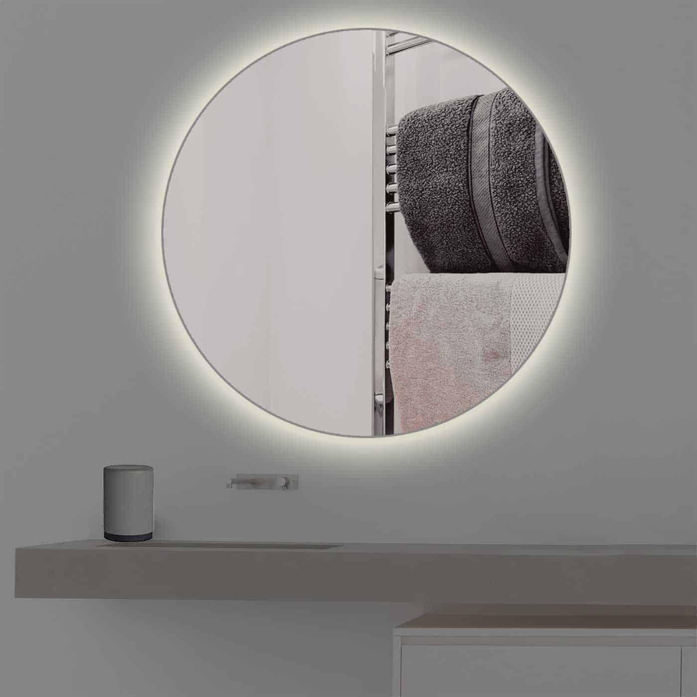 runder badspiegel mit beleuchtung t v gepr ft kostenloser versand. Black Bedroom Furniture Sets. Home Design Ideas
