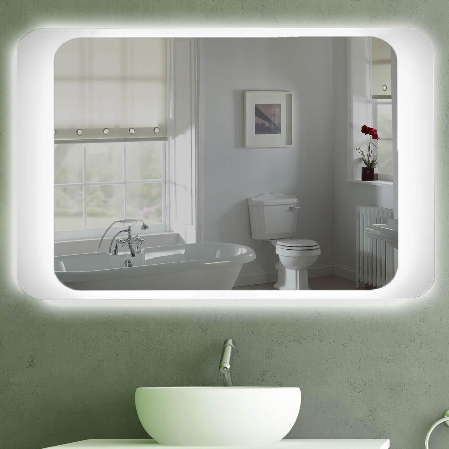 Wc Spiegel Ohne Beleuchtung : Badspiegel mit Beleuchtung  Spiegel TÜV geprüft kostenloser ...