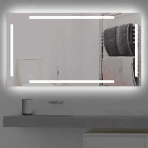 badspiegel led beleuchtet vier schmalen streifen k 221 0 versand. Black Bedroom Furniture Sets. Home Design Ideas