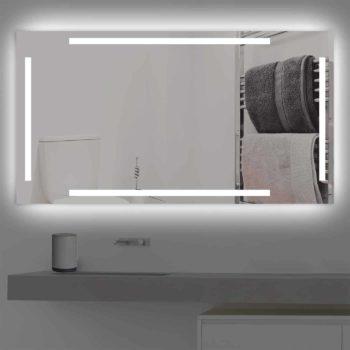 Badspiegel LED beleuchtet vier schmalen Streifen | K 221 kaltweiss