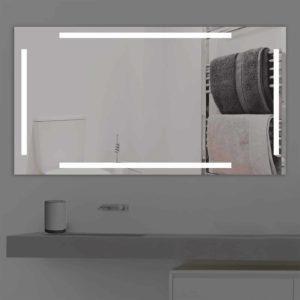 Badspiegel LED beleuchtet vier schmalen Streifen   K 221