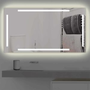Badspiegel LED beleuchtet vier schmalen Streifen | K 221 warmweiss