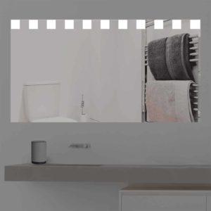 Badspiegel LED beleuchtet mit kleinen Quadraten   KS 307