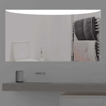 Badspiegel LED beleuchtet mit Design Aspekt   K 357