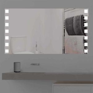 Badspiegel LED beleuchtet mit niedlichen Quadraten   K 358