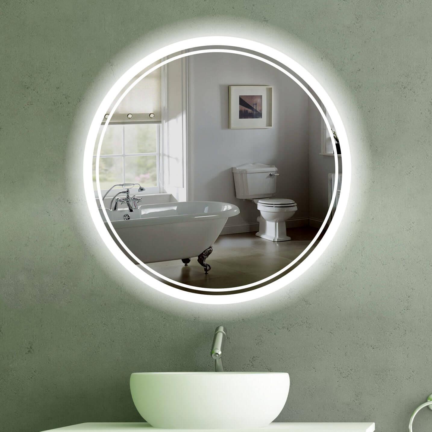 Badspiegel rund mit beleuchtung gm77 hitoiro for Spiegel id