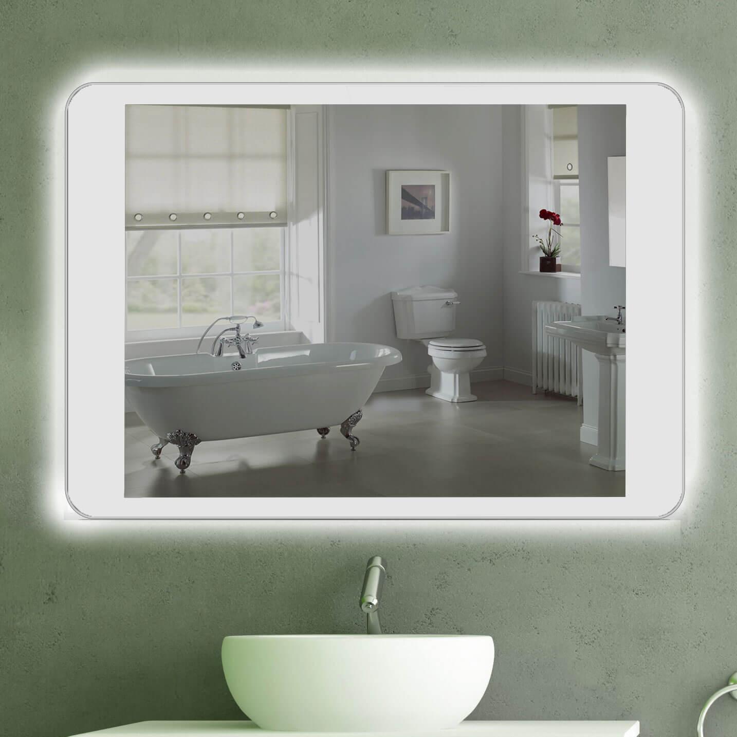 pad Elegantes Spiegel Mit Indirekter Beleuchtung Dekorationen