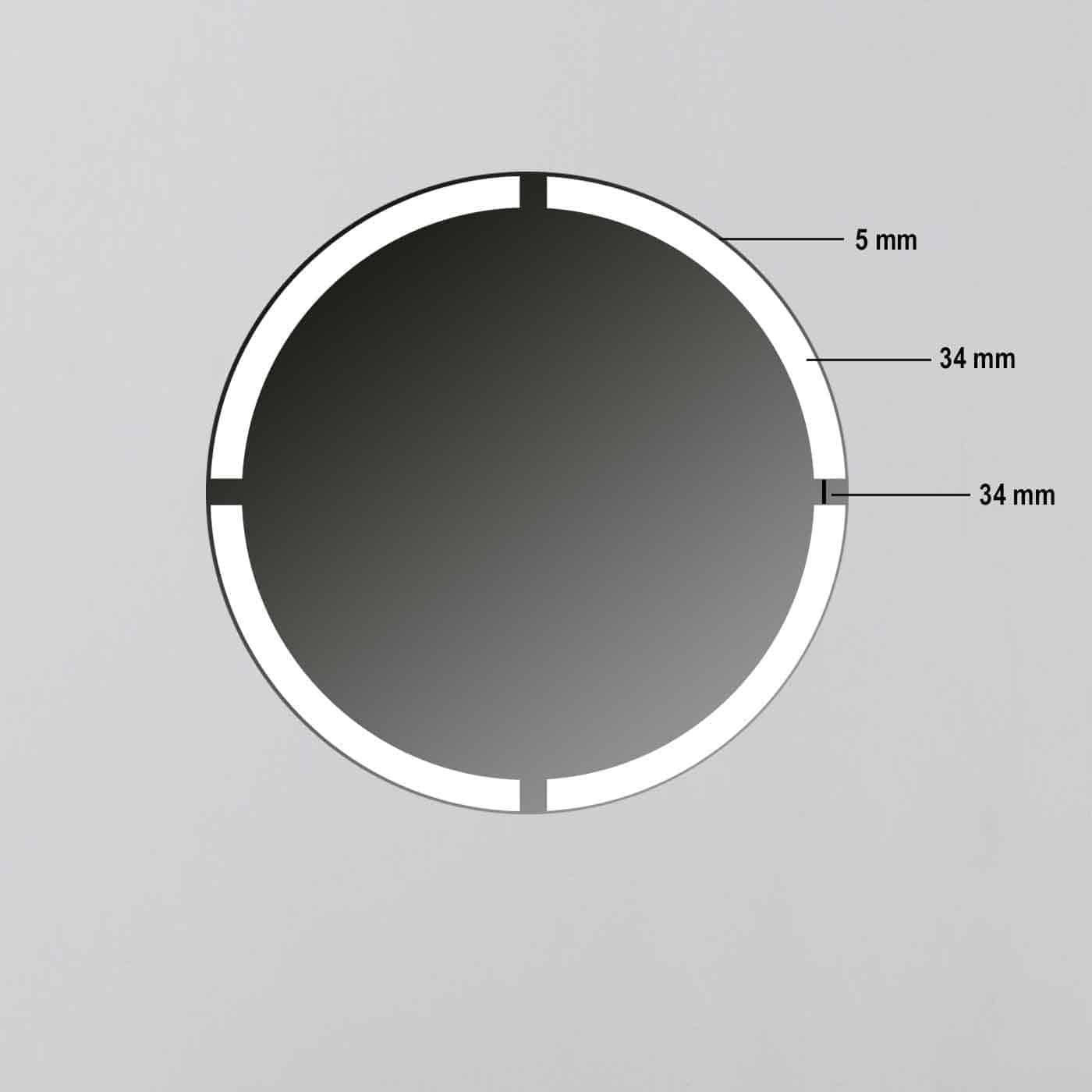 rund wandspiegel led beleuchtung r403 technischedaten badspiegel online badspiegel. Black Bedroom Furniture Sets. Home Design Ideas