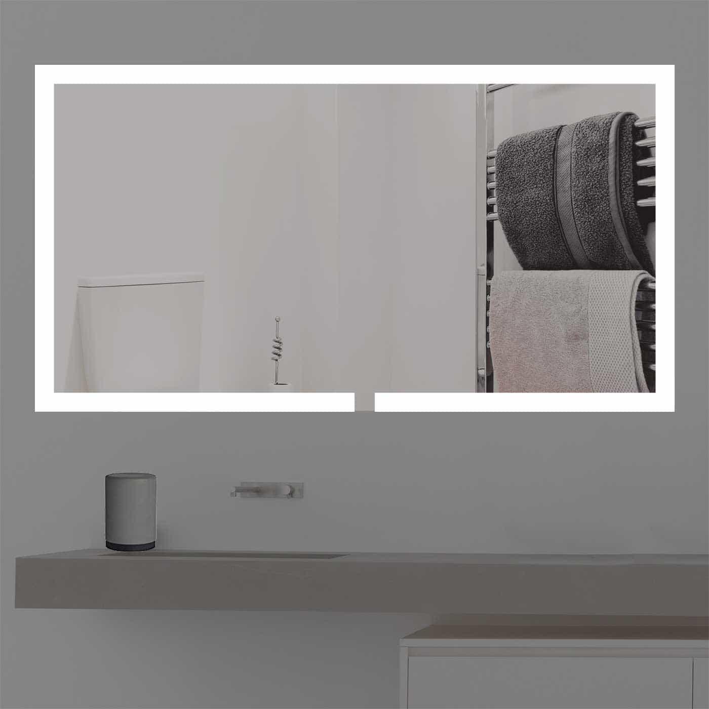badspiegel beleuchtet online kaufen k1491. Black Bedroom Furniture Sets. Home Design Ideas