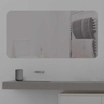 Badspiegel LED beleuchtet runde ecken K Blanco