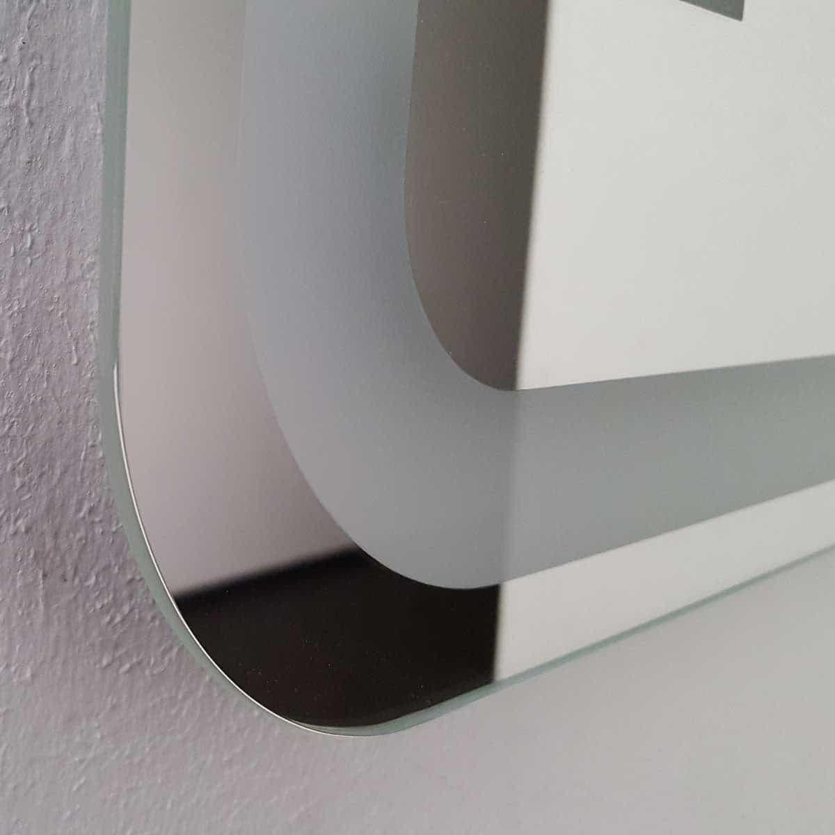 badspiegel led beleuchtet runde ecken k 350. Black Bedroom Furniture Sets. Home Design Ideas