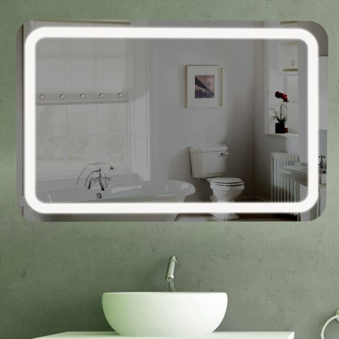 badspiegel led mit beleuchtung abgerundete ecken