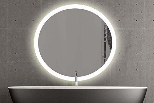 London runder Spiegel mit LED Beleuchtung 120cm, Warmweiss